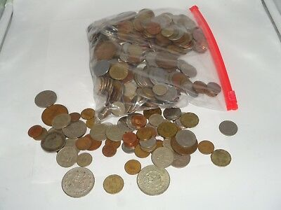 Bulk Lot of Foreign Coins 5 + pounds Unsearched World Coin Five Lbs 2 Un Peso!