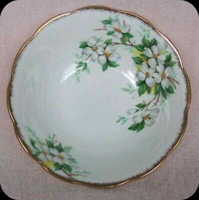 Royal Albert White Dogwood Soup Cereal Bowl England (Four Available)