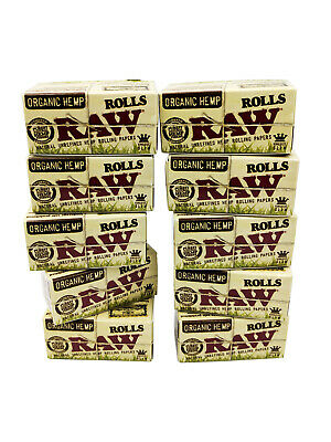 RAW Kingsize Slim Organic Hemp 5 Meter Rolls Smoking Rolling Paper - 10 Pack