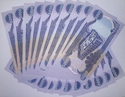 100,000 Uncirculated Iraqi Dinar - 20 X 5,000 New Iraqi Dinar