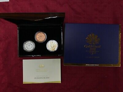 CB818) Australia 2018 RAM XXI Gold Coast Commonwealth Games Three Proof set