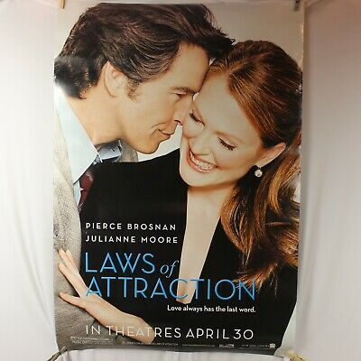 "Laws of Attraction Poster Movie Theater Double Sided Original 27"" X 40"" Moore"