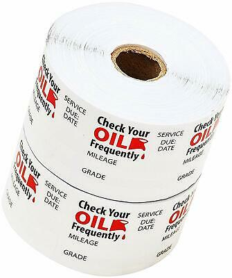Parts Flix OCS-1000 Clear Premium Quality Oil Change Stickers Static Cling,