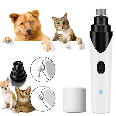 Electric Pet Nail Grinder Dog Cat Nail Trimmer Grooming Paws Grinder Clipper Kit