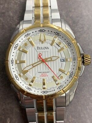 Bulova 98B169 Precisionist Silver Dial Stainless Steel 2-Tone Men's  (IMP005424)