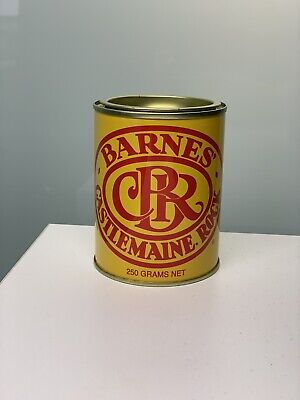 Famous Barnes Castlemaine Rock Confectionary Tin Collectable
