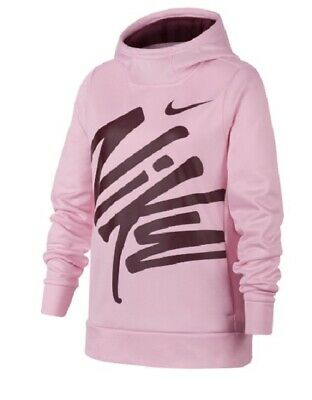NEW Nike  Big Kids' (Girls') Training Therma GX Pullover Hoodie Top AQ9017-663