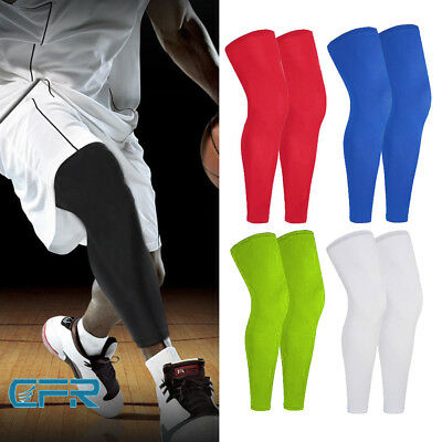 33be568773 Calf Leg Running Compression Sleeve Socks Shin Splint Support Gym Sports  Brace S