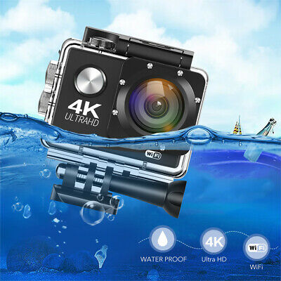 4K WIFI Sports Action Camera Ultra HD Waterproof DV Cam corder 16MP US Free ship