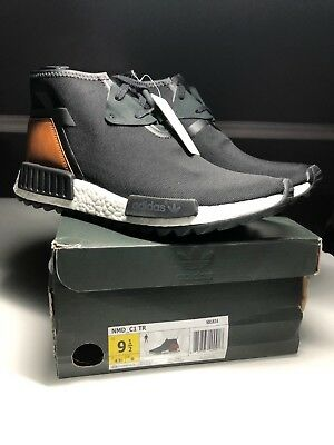 super popular 58773 a3ca5 Adidas NMD C1 TR Chukka Originals Boost DS Men s Sz 9.5 Black Brown S81834