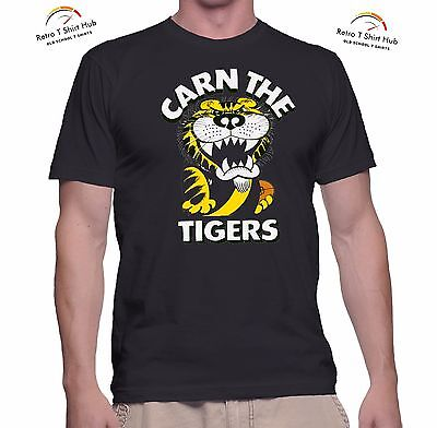 RICHMOND TIGERS VFL/AFL FOOTBALL 1970s Supporter Retro Vintage PRINTED T SHIRT