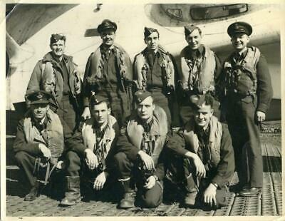 Vintage Real Aviation Photograph: Rcaf Canso Rescue Flying Boat Crew :mxav3353Q