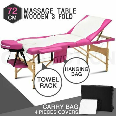 3 Fold Portable Easy Lock Massage Waxing Table Beauty Therapy Treatment Bed 72cm