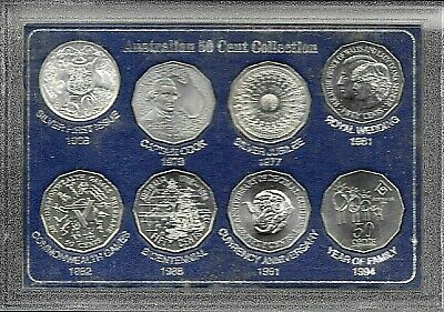 Australian Fifty Cent Coin Collection  - 1966 To 1994 - Coins Are  Uncirculated