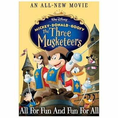 New Sealed Walt Disney's The Three Musketeers DVD - Mickey, Donald, Goofy D3