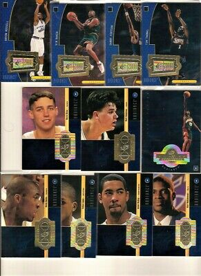 1998-99 SPx Finite Base Radiance 269 Card Lot: Kobe, Duncan, Near Complete Set!