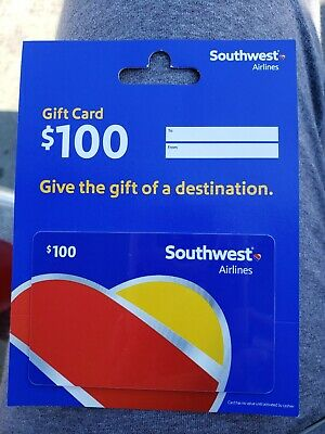 Southwest Airlines Gift Card - $100- mail delivery