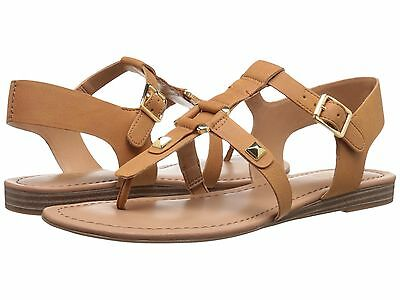 f7381b443e04 NIB Women s  69 Franco Sarto Geyser Biscuit Thong Tan Ankle Strap Sandals  NEW
