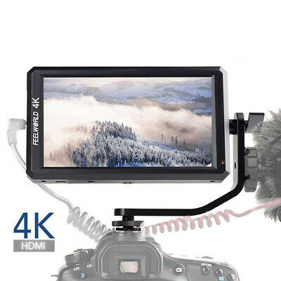 """Feelworld F6 Pro 5.7"""" IPS 4K HDMI On Camera Video Monitor for DSLR Stabilizer 4S"""