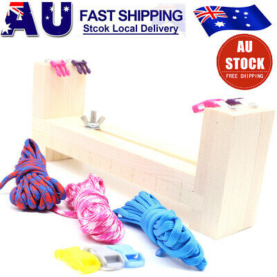 DIY Paracord Wristband Bracelet Maker Jig Solid Wood Tool & Braided Rope Cord