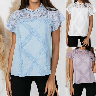 Summer Women's Short Sleeve T Shirt Charm Blouse Ladies Casual Loose Tops S-XL