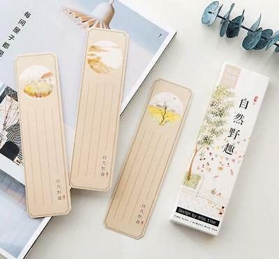 DIY 30 sheets/Pack Mixed Chinese style Bookmark Message card Office Supplies