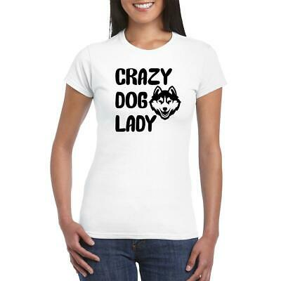 Crazy Springer Spaniel Lady Animal lover Owner New Funny Ladies Gift T-shirt