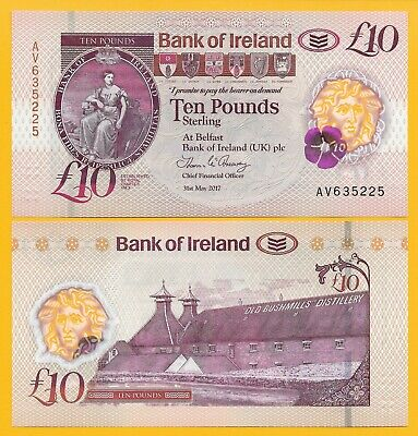 Northern Ireland 10 Pounds p-new 2017(2019) Bank of Ireland UNC Banknote
