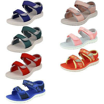 995baf65dcb4 Boys Girls Clarks Surfing Tide K Kids Casual Hook   Loop Open Toe Summer  Sandals