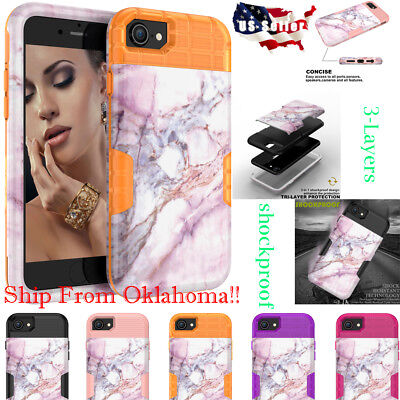 Slim Fit Marble Pattern Soft Flexible Silicone Skin Cover for X 10 7/8 Plus 6/6S