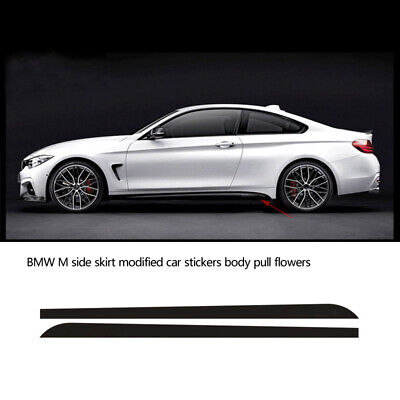 Racing M Performance Side Skirt Stripe Decals Vinyl Stickers Trim E46 E39 Coupe
