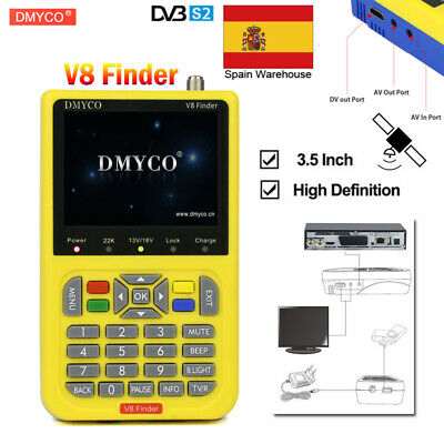 ES FTA DVB-S2 V8 Finder High Definition Digital Satellite Finder MPEG-4/2 1080P