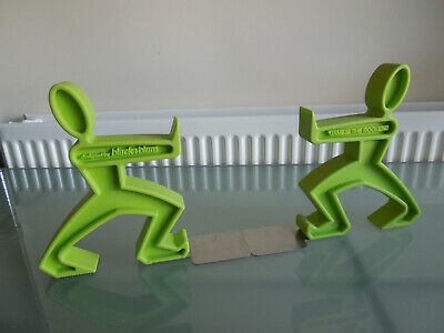 Black & Blum James the Bookend ~ Rubber figural Pair of bookends ~ Lime Green