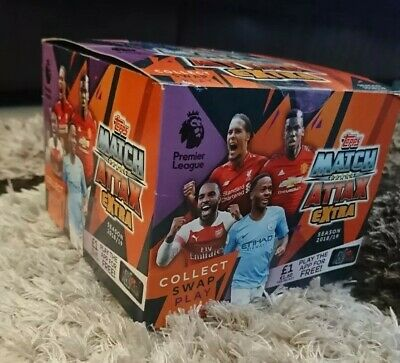 2018/19 Topps Match Attax  Extra Premier League Trading Cards Full Box 50 Packs