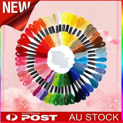 Embroidery Floss Thread Skeins Rainbow Colors with Embroidery Kit Tools