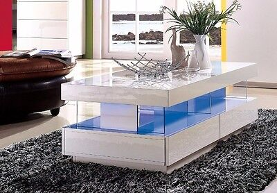 Modern High Gloss White Tiffany Wood Coffee Table For Living