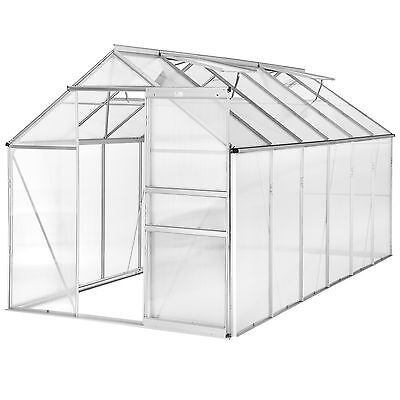 Greenhouse polycarbonate alu grow plants growhouse garden structure 11.13m³