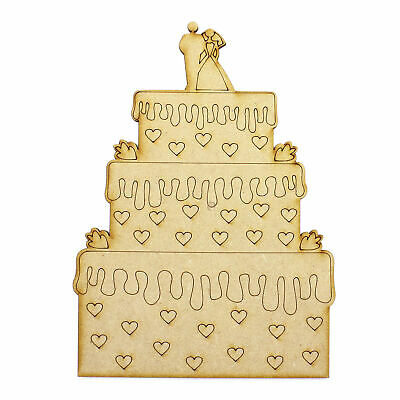 3mm MDF Wood Shape Holiday Scrapbook Birthday Card Craft Topper 6 60mm Cupcakes