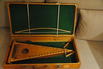 Bowed Psaltery - 1970s vintage with DIY carrying case