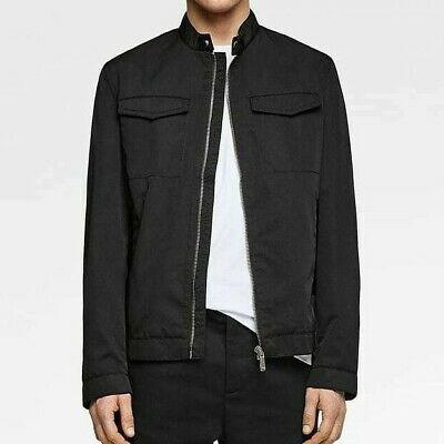 9a639793 Zara Man New 2019 Black Jacket With Faux Leather Trim Ref: 6719/452