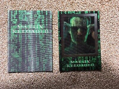 Matrix Reloaded Movie Hologram collector cards RARE 2003 Neo