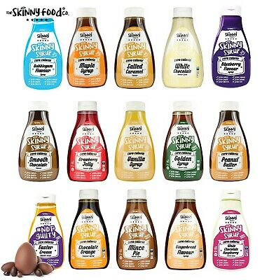 Skinny Foods Co Syrup Sauce Fat Free Zero Calorie Sugar Free 425ml