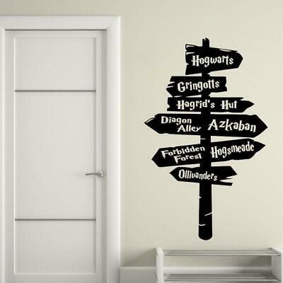 Harry Potter Wall Decal Removable Hogwarts Road Sign Vinyl Sticker Wall Art