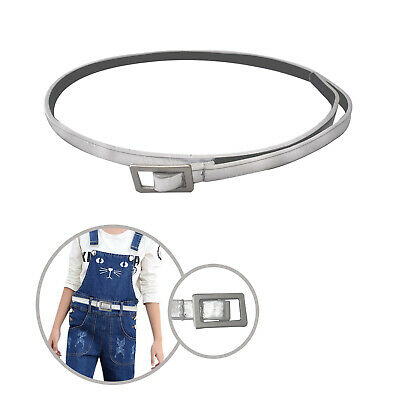 Shiny Silver PU Leather Elegant Kids Waist Belt Stylish Girls Fashion Accessory