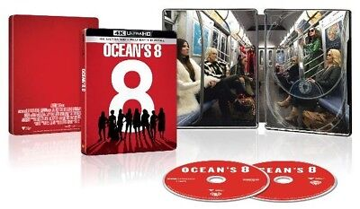 Ocean's 8 - Best Buy Exclusive Steelbook (Blu-ray + 4K UHD) BRAND NEW!!