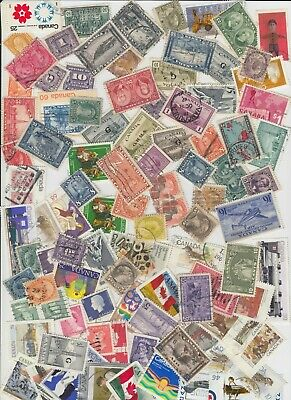 Group of Used Canada HI VALUE Stamps (Lot #B463)