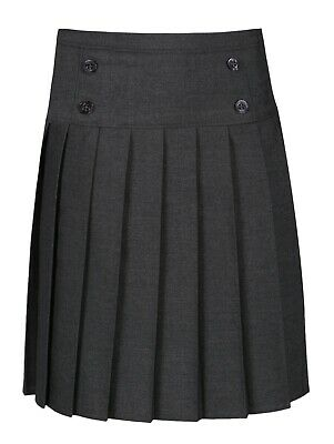 Ages 4-12 BHS Girls School Skirt Grey Adjustable Elastic Waist Pleated