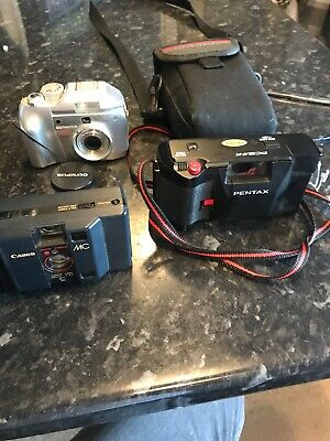 Pentax,Olympus,cannon  Camera Bundle , To Include Camera Case As Pictures ,