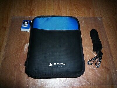 Deluxe sony playstation PS Vita and games official Travel bag case cover (Blue)