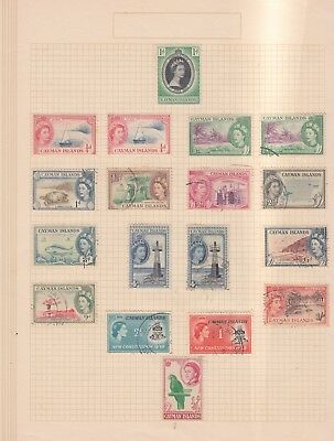 CAYMAN IS. 1953-9  mint hinged /used UNCHECKED (C7)